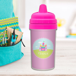 Pretty heart Castle personalized sippy cups with names