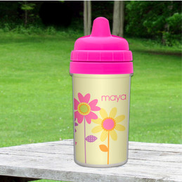 Three Spring Blooms Custom Sippy Cups