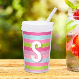 Sweet Lines Personalized Kids Cups