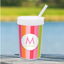 Bold & Fun Stripes Personalized Kids Cups