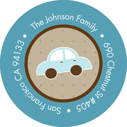 Baby Address Labels Bunch Of Cars