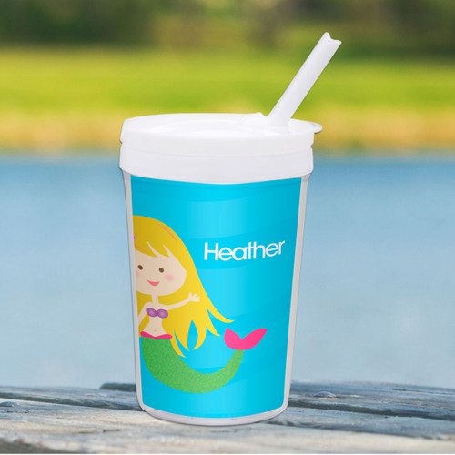 Cute Mermaid Personalized Kids Cups