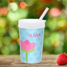 Cute Tulip Personalized Kids Cups