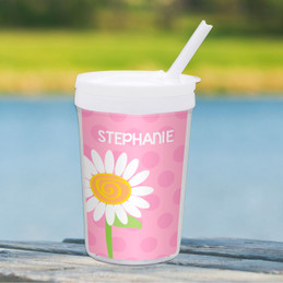 A Daisy for You Personalized Kids Cups