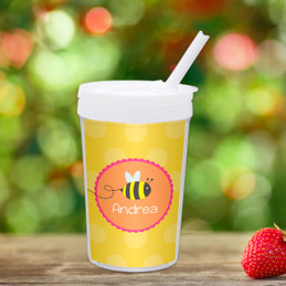 Fly Little Bee Personalized Kids Cups