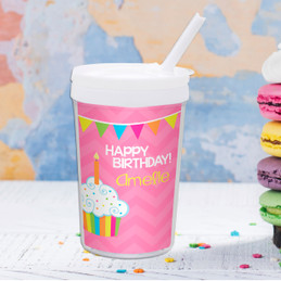 Happy Bday Girl Personalized Kids Cups