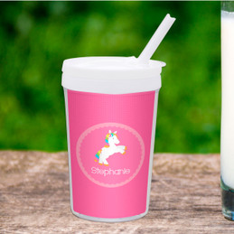 Playful Pony Personalized Kids Cups