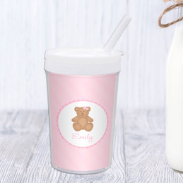 A Sweet Teddy Bear Personalized Kids Cups