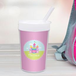 Pretty Heart Castle Personalized Kids Cups