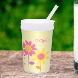 Three Spring Blooms Custom Kids Cups