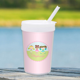 Three Cheerleaders Personalized Kids Cups