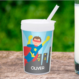 A Cool Superhero Toddler Cup
