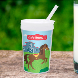 Cute Racehorse Toddler Cup