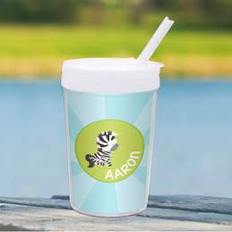 Cute Baby Zebra Toddler Cup