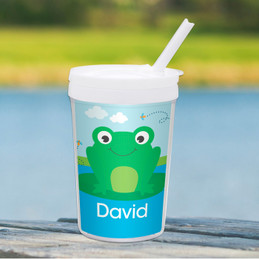 Cute Smiley Frog Toddler Cup
