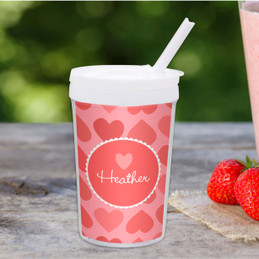 Lovely Hearts Personalized Kids Cups