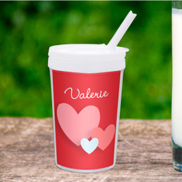 Many Hearts Personalized Kids Cups