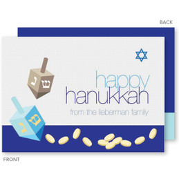 Coins And Dreidels Hanukkah Cards