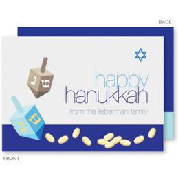 Coins And Dreidels Hanukkah Cards