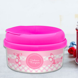 My Ballerina Shoes Snack Bowls With Lids