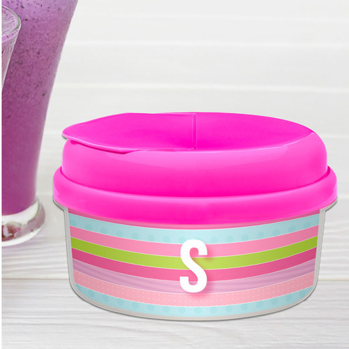 Sweet Lines Personalized Snack Bowls