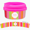 Bold And Fun Stripes Snack Bowls For Kids