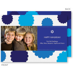 Hanukkah Rosettes Photo Holiday Card