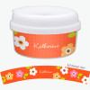 Preppy Flowers Orange Customized Snack Bowl