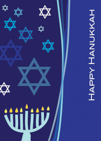 A Dance Of Stars Personalized Hanukkah Cards