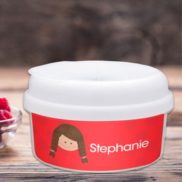 Just Like Me Girl Red Snackbowls For Toddlers