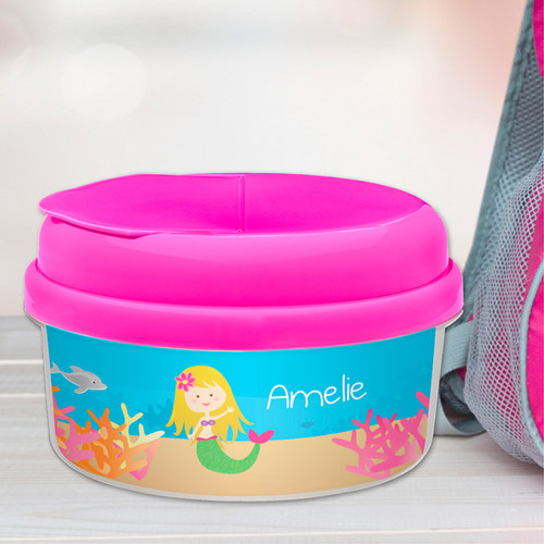 Sweet Mermaid Blonde Customized Snack Bowl