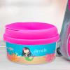 Sweet Mermaid Black Haired Customized Snack Bowl