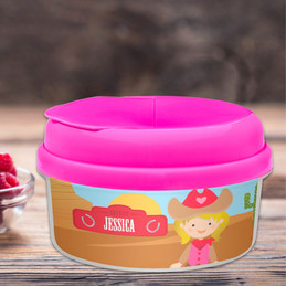 Blonde Cowgirl Toddler Snackbowls