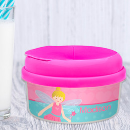 Blonde Fairy Girl Snack Bowls For Kids
