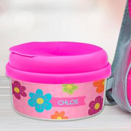 Shiny Bold Flowers Toddler Snack Bowl
