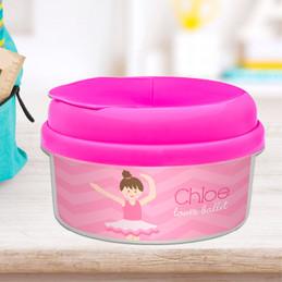 Sweet Ballerina Brunette Custom Snack Bowl