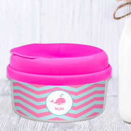 Sweet Pink Whale Personalized Snack Bowls