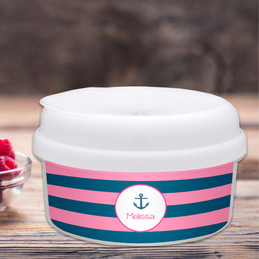 Let's Sail Pink Snack Bowl