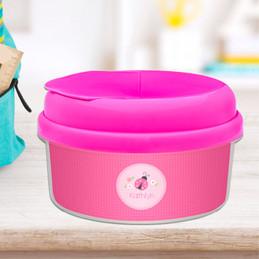 Sweet Pink Lady Bug Toddler Snack Bowl