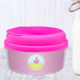 Pretty Heart Castle Snack Bowls With Lids