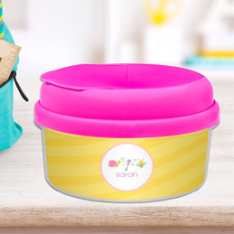 Three Sweet Little Bugs Personalized Snack Bowl