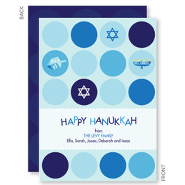 Hanukkah Greeting Cards | Hanukkah Polka Dots