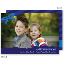 Adorned With A Ribbon Chanukah Card