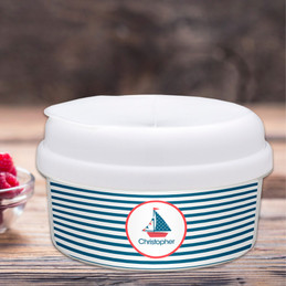 Set Sail Personalized Snack Bowl