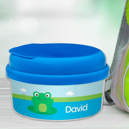 Cute Smiley Frog Customized Snack Bowl