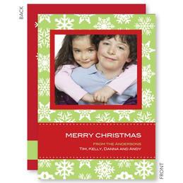 Snowflake Wallpaper Christmas Photo Cards