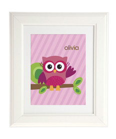 Pink Owl Be Yours Kids Wall Art
