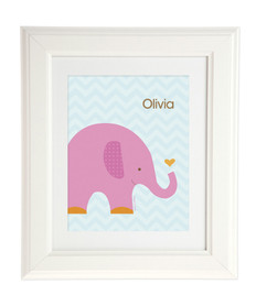 Sweet Pink Elephant Kids Wall Art