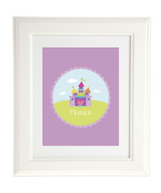 Pretty Heart Castle Kids Wall Art