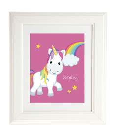 Rainbow Unicorn Kids Wall Art